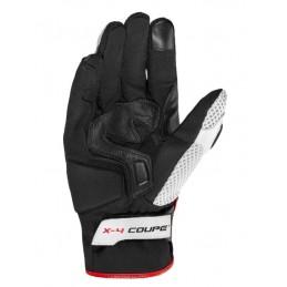 Kožené rukavice X4 Couple červeno/čierne