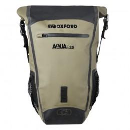 Batoh OXFORD Aqua B-25 čierny/zelená kaki
