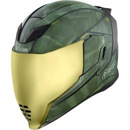 Prilba na moto ICON Airflite Battlescar 2 green