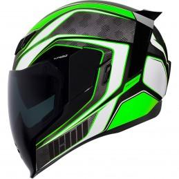Prilba na moto ICON Airflite Raceflite green