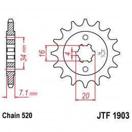 Vývodové koliesko JT JTF1903.12