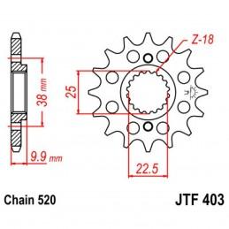 Vývodové koliesko JT JTF403.13