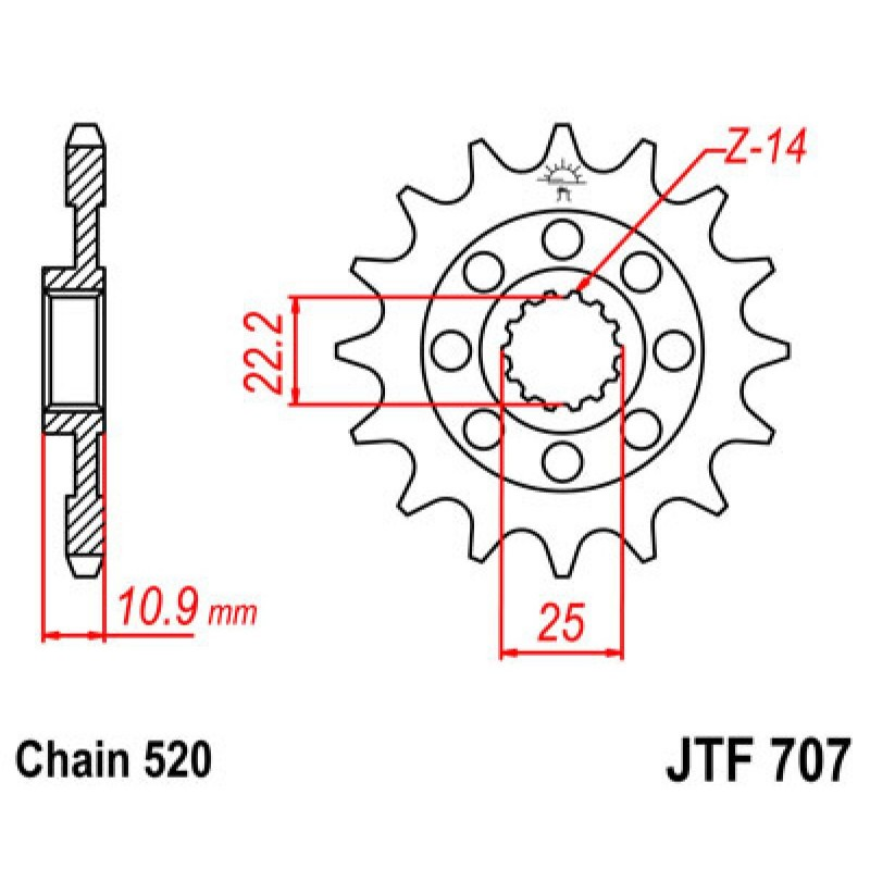 JT Sprockets JTF273.15 Steel Front Countershaft Sprocket