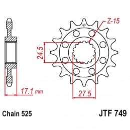 Vývodové koliesko JT JTF749.15