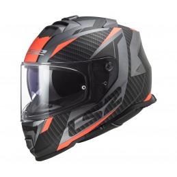 Prilba na motocykel LS2 FF800 Storm Racer titanium fluo orange
