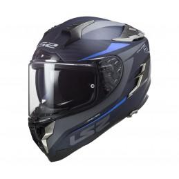 Prilba na motocykel LS2 FF327 Challenger C Drone matt blue