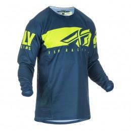 MX dres na motorku Fly Racing Kinetic Shield 2019 modrá/žltá fluo