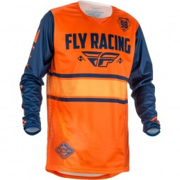 MX dres na motorku Fly Racing Kinetic Era 2018 oranžová/modrá navy