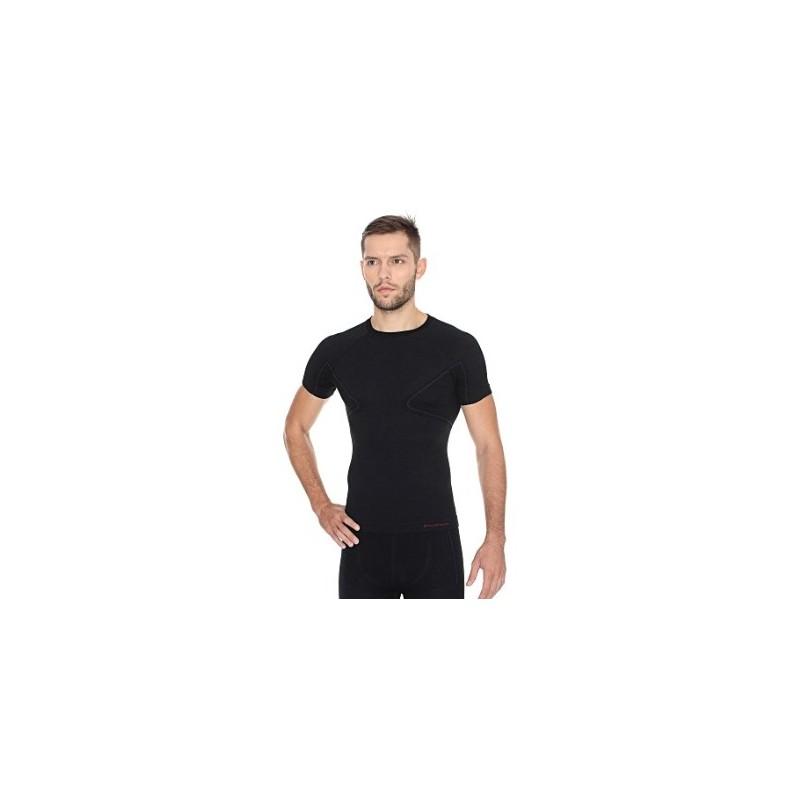 Termo tričko Brubeck Active Wool SS11710 black
