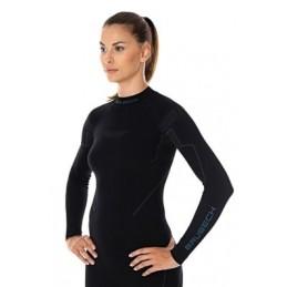 Termo tričko Brubeck LS13100 black W