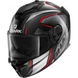 Prilba na motorku SHARK Spartan GT Carbon Kromium chrome red