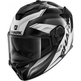 Shark Spartan GT Elgen Helmet Čierna biela