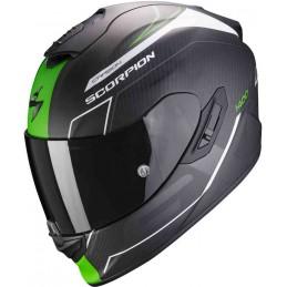 Scorpion EXO 1400 Carbon Air Beaux Helmet Čierna matná zelená