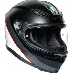AGV K-6 Minimal Helmet Čierna matná biela