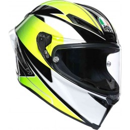AGV Corsa R Supersport Helmet Black-white-green