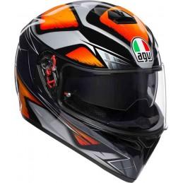 Prilba na moto AGV K-3 SV Liquefy čierna-oranžová