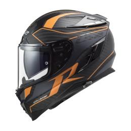 Prilba na motorku LS2 FF327 Challenger CT2 Carbon Grid matt carbon orange