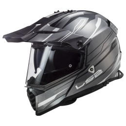 Prilba na motocykel LS2 MX436 Pioneer EVO Knight titanium white