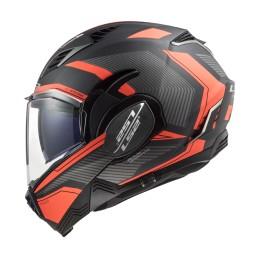 Prilba na motocykel LS2 FF900 Valiant II Revo matt titanium fluo orange