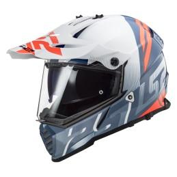 Prilba na motocykel LS2 MX436 Pioneer EVO Evolve white cobalt