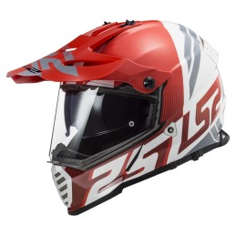 Prilba na motocykel LS2 MX436 Pioneer EVO Evolve red white