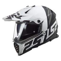 Prilba na motocykel LS2 MX436 Pioneer EVO Evolve matt white black