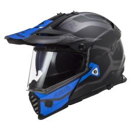 Prilba na motocykel LS2 MX436 Pioneer EVO Cobra matt black blue