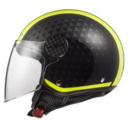Prilba na motocykel LS2 OF558 SPHERE LUX Crush black yellow