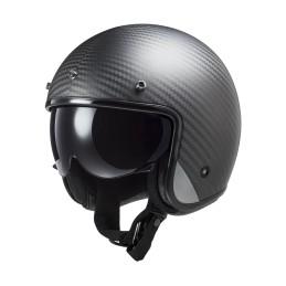 Prilba na motocykel LS2 OF601 BOB C Solid matt carbon
