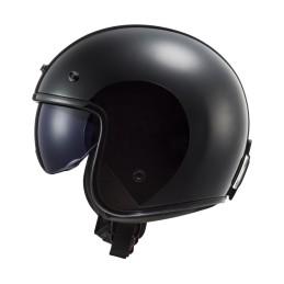 Prilba na motocykel LS2 OF601 BOB HPFC Solid matt black