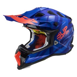 Prilba na motocykel LS2 MX470 Subverter Troop matt blue orange