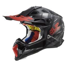 Prilba na motocykel LS2 MX470 Subverter Troop matt black red