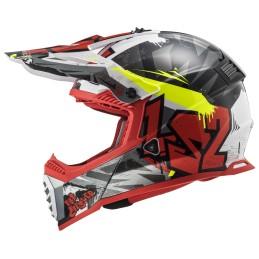 Prilba na motocykel LS2 MX437 Fast EVO Crusher black red