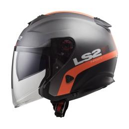 Prilba na moto LS2 OF521 INFINITY Smart matt titanium orange