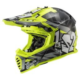 Prilba na motocykel LS2 MX437 Fast EVO Crusher black H-V yellow
