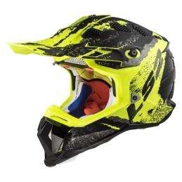 Prilba na motocykel LS2 MX470 Subverter Claw matt black hi vis
