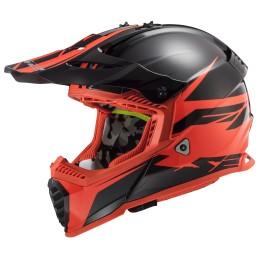 Prilba na motocykel LS2 MX437 Fast EVO Roar matt black red