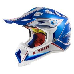 Prilba na motocykel LS2 MX470 Subverter Power chrome blue