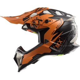 Prilba na moto LS2 MX470 Subverter Emperor black orange