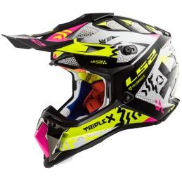 Prilba na motocykel LS2 MX470 Subverter Triplex black pink h-v yellow