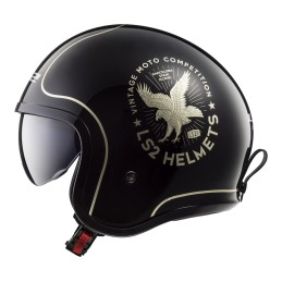 Prilba na motocykel LS2 OF599 SPITFIRE Flier black gold
