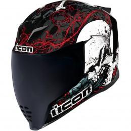 Prilba na moto ICON Airflite Skull black/white