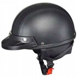 Prilba na moto AWINA braincap čierna koža