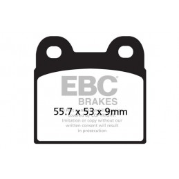 Brzdové platničky EBC FA057