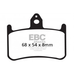 Brzdové platničky EBC FA187