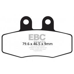 Brzdové platničky EBC FA132