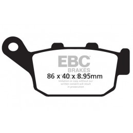Brzdové platničky EBC FA496