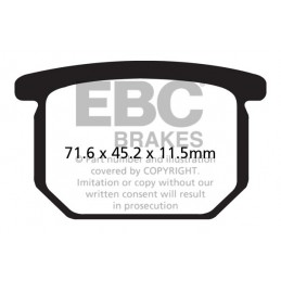 Brzdové platničky EBC FA065