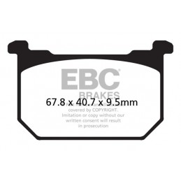 Brzdové platničky EBC FA068HH