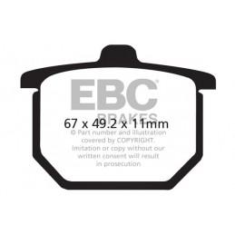 Brzdové platničky EBC FA029